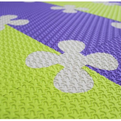 Детский мягкий пол Ромашки 33х33 фиолетовый 18 мм