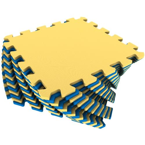 Универсальный коврик 25х25 желто-синий