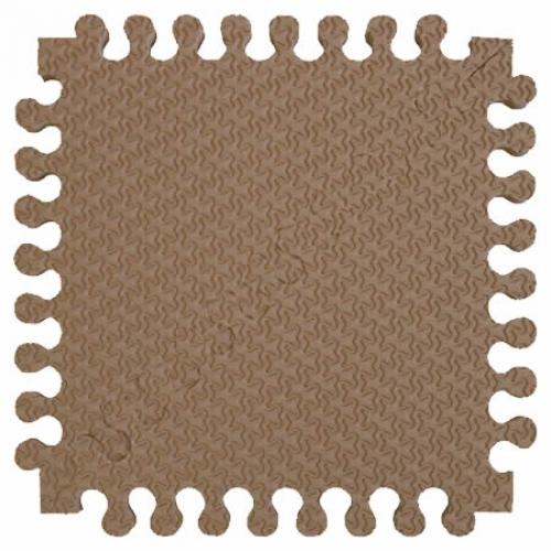 Детский мягкий пол Треугольники 33х33 кофе с молоком