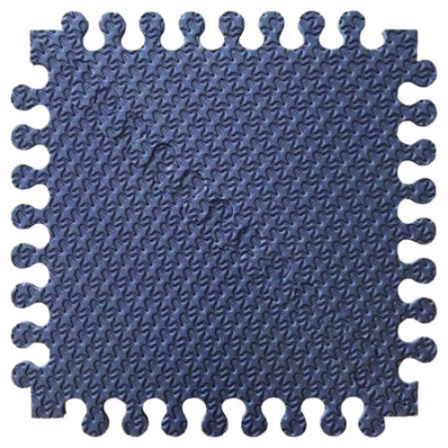Детский мягкий пол Треугольники 33х33 сине-фиолетовый