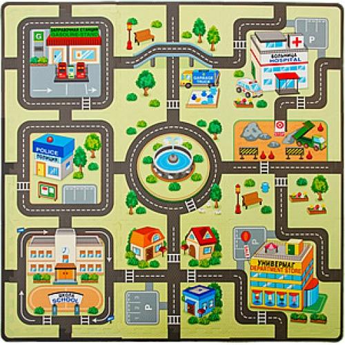 Игровой коврик-пазл Город
