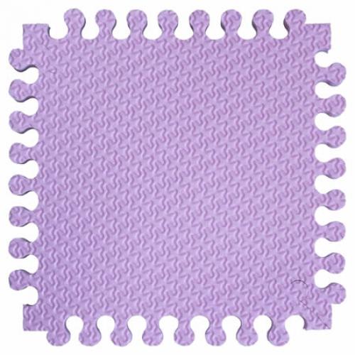 Детский мягкий пол Треугольники 33х33 светло-розовый