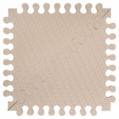 Детский мягкий пол Треугольники 33х33 светло-кремовый