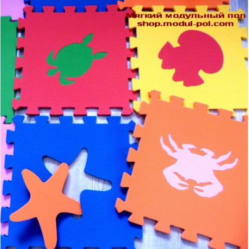 Игровой коврик-пазл Морские Животные