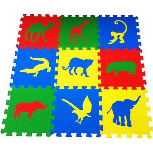 Игровой коврик-пазл Животные Сафари