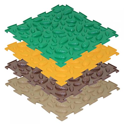 Массажный коврик-пазл Шишки мягкие