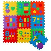 Игровой коврик-пазл Цифры и фигуры-10