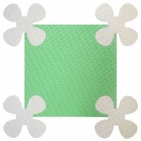 Детский мягкий пол Ромашки 33х33 зеленый 9 мм