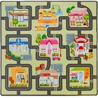 Игровой коврик-пазл Магазины-улицы