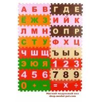 """Мягкий пол """"Буквы и Цифры"""" 10х10"""