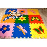 Мягкий коврик-пазл Бабочки 33х33